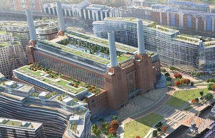 Battersea Power Station View  Aerial