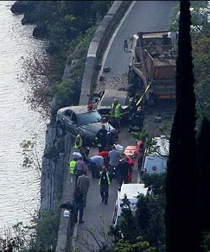 Bond accident 2 Lake Garda