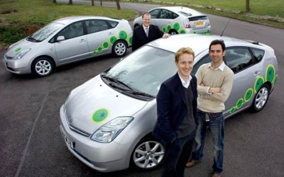 Green Tomato plug-in taxis