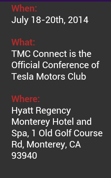 Tesla TMC Connect July Conference