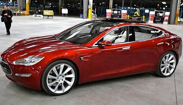 Tesla Model 3 Red Alert Unveil Real III April 1